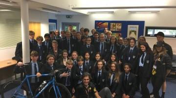 International triathletes visit Grainville School