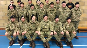 Grainville School Army Cadet Force undergo their annual inspection.