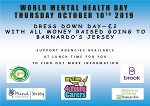 World Mental Health Day poster - Sept 2019