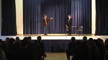 Year 10 were engrossed by 'Blood Brothers'.