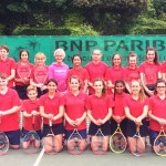 Judy Murray coaches Grainville students