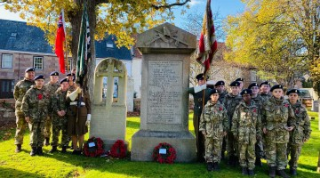 Grainville Army Cadets pay their respect